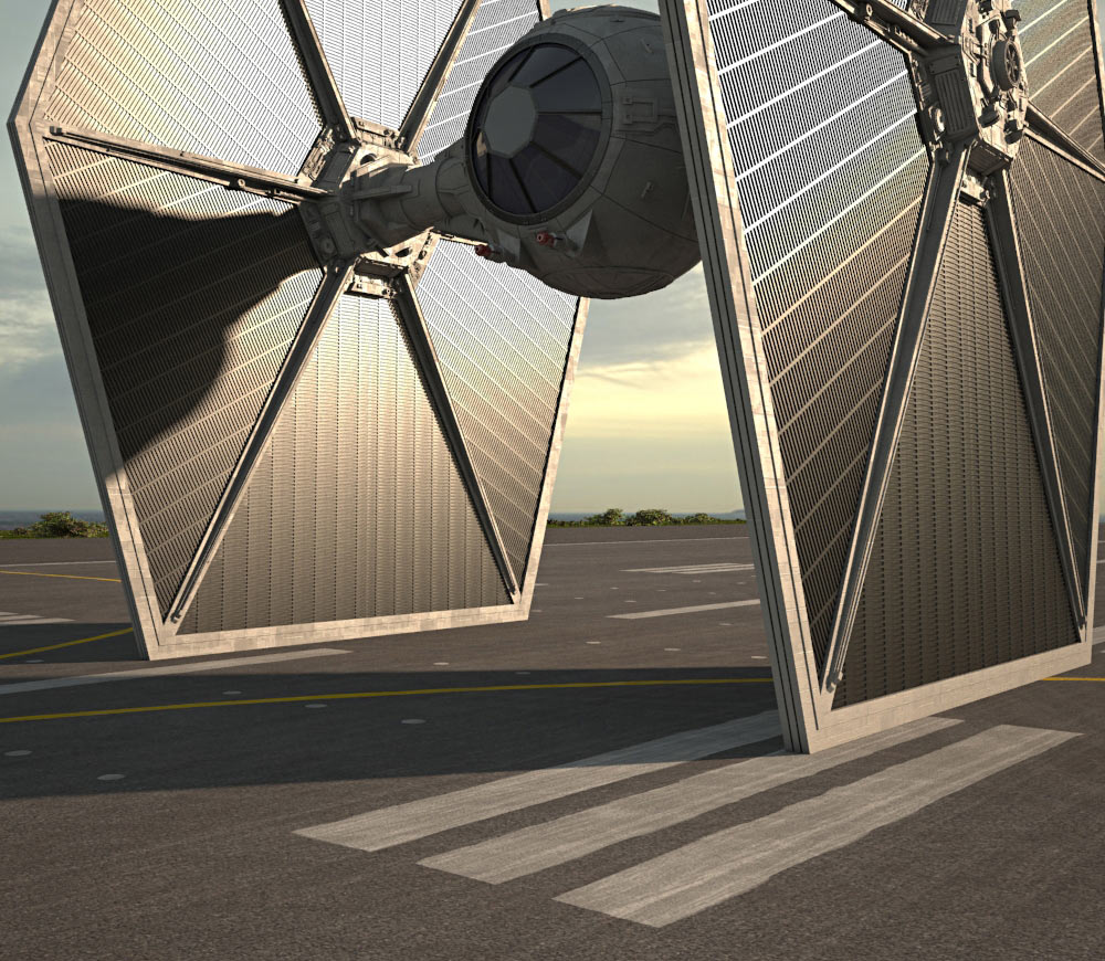 Tie fighter clipart obj banner library stock TIE Fighter 3D model banner library stock