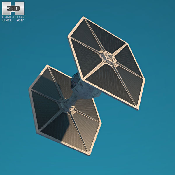 Tie fighter clipart obj free download TIE Fighter 3D model free download