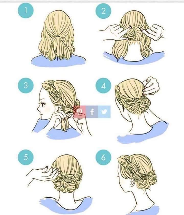 Tie hair up clipart png transparent 29 simple and easy ways to tie up your hair ^_____^ - Album ... png transparent
