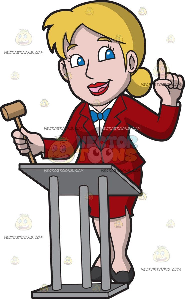 Tie hair up clipart png royalty free stock A Professional Female Auctioneer : A woman with blonde hair ... png royalty free stock
