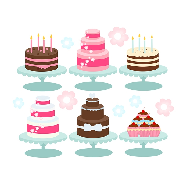 Tiered birthday cake clipart picture royalty free stock Tiered cake clipart - ClipartFest picture royalty free stock