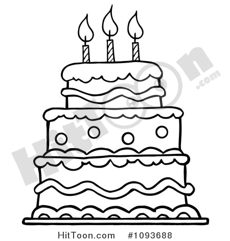 Tiered birthday cake clipart clip art royalty free library Birthday Cake Clipart #1 - Royalty Free Stock Illustrations ... clip art royalty free library