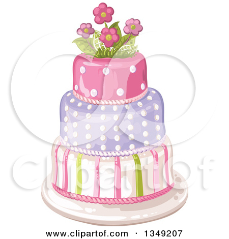 Tiered birthday cake clipart clipart royalty free stock Royalty-Free (RF) Clipart of Birthday Cakes, Illustrations, Vector ... clipart royalty free stock
