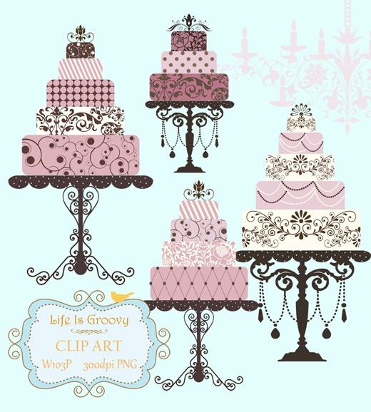 Tiered birthday cake clipart image transparent stock Tiered Cake Clipart - Clipart Kid image transparent stock