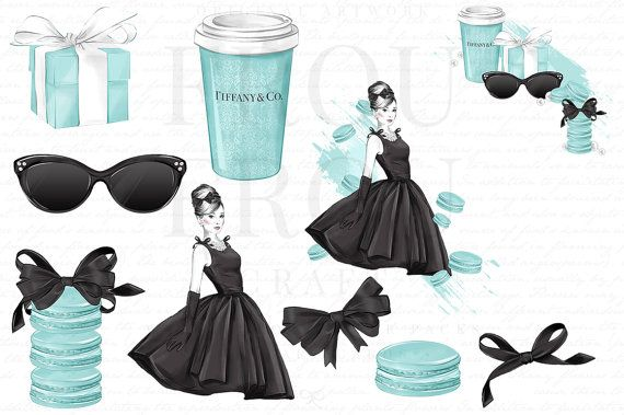 Tiffany logo clipart clipart transparent stock Breakfast at Tiffany Clipart Mint Fashion Illustration ... clipart transparent stock