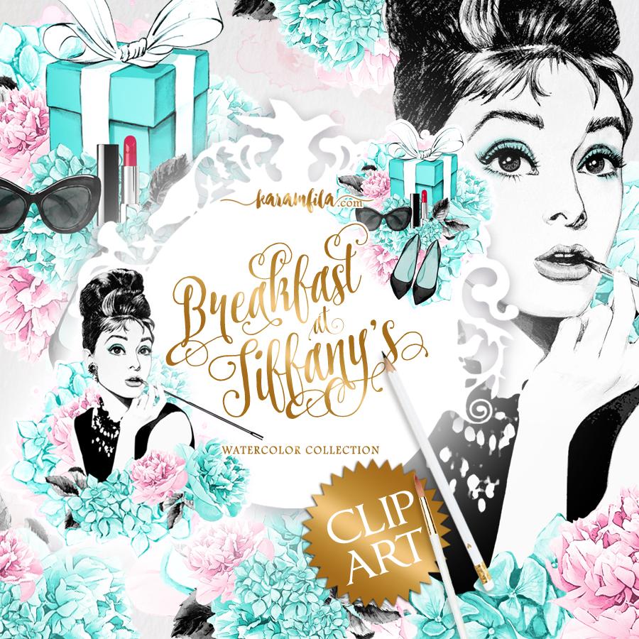 Tiffany logo clipart clip art stock Breakfast at Tiffanys Clipart clip art stock