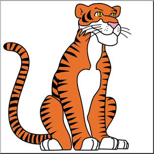 Tiger 1 color clipart clipart free download Clip Art: Cartoon Tiger Color | abcteach clipart free download