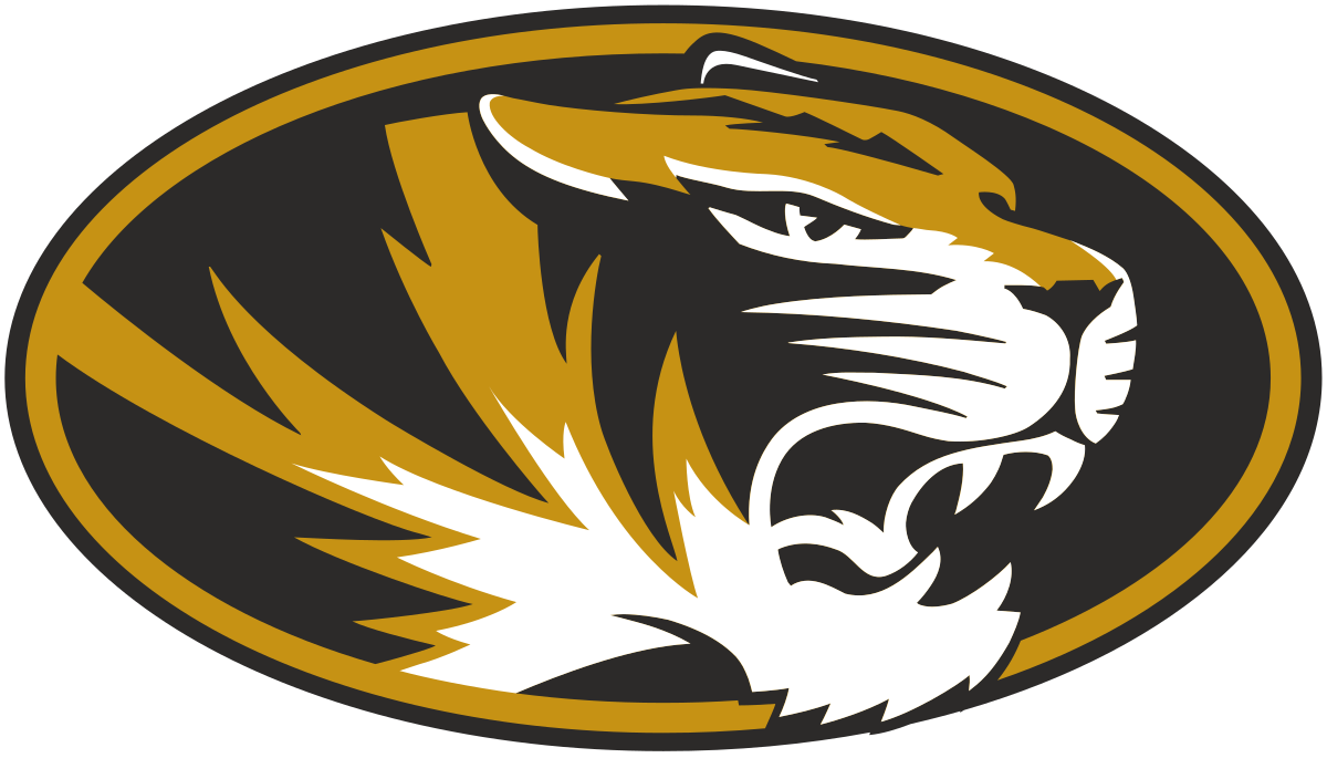 Tiger football clipart image freeuse library Mu Tigers Logo 1971 - Clipart Vector Illustration • image freeuse library
