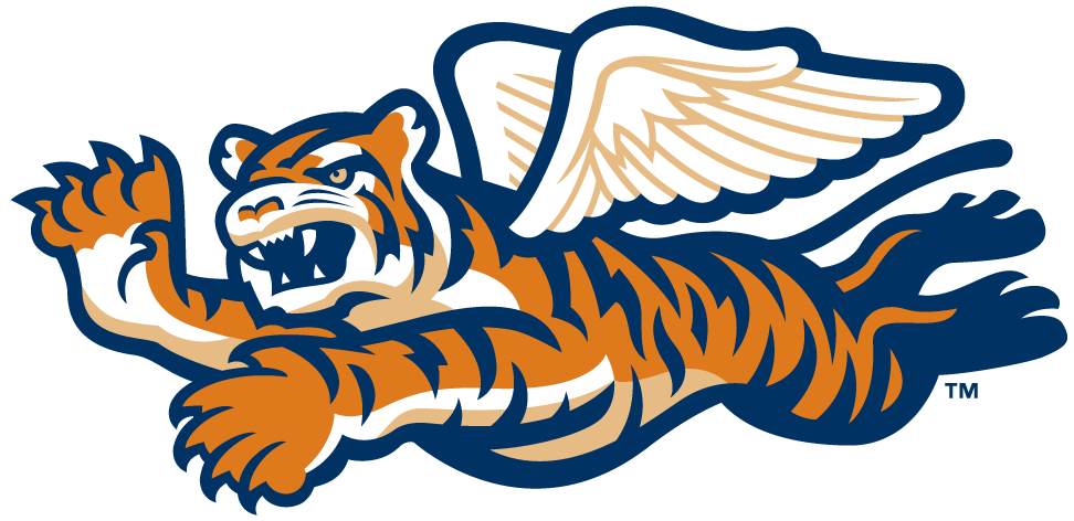 Tiger baseball clipart picture black and white download Lakeland Flying Tigers Detroit Tigers Curtiss P-40 Warhawk Logo ... picture black and white download