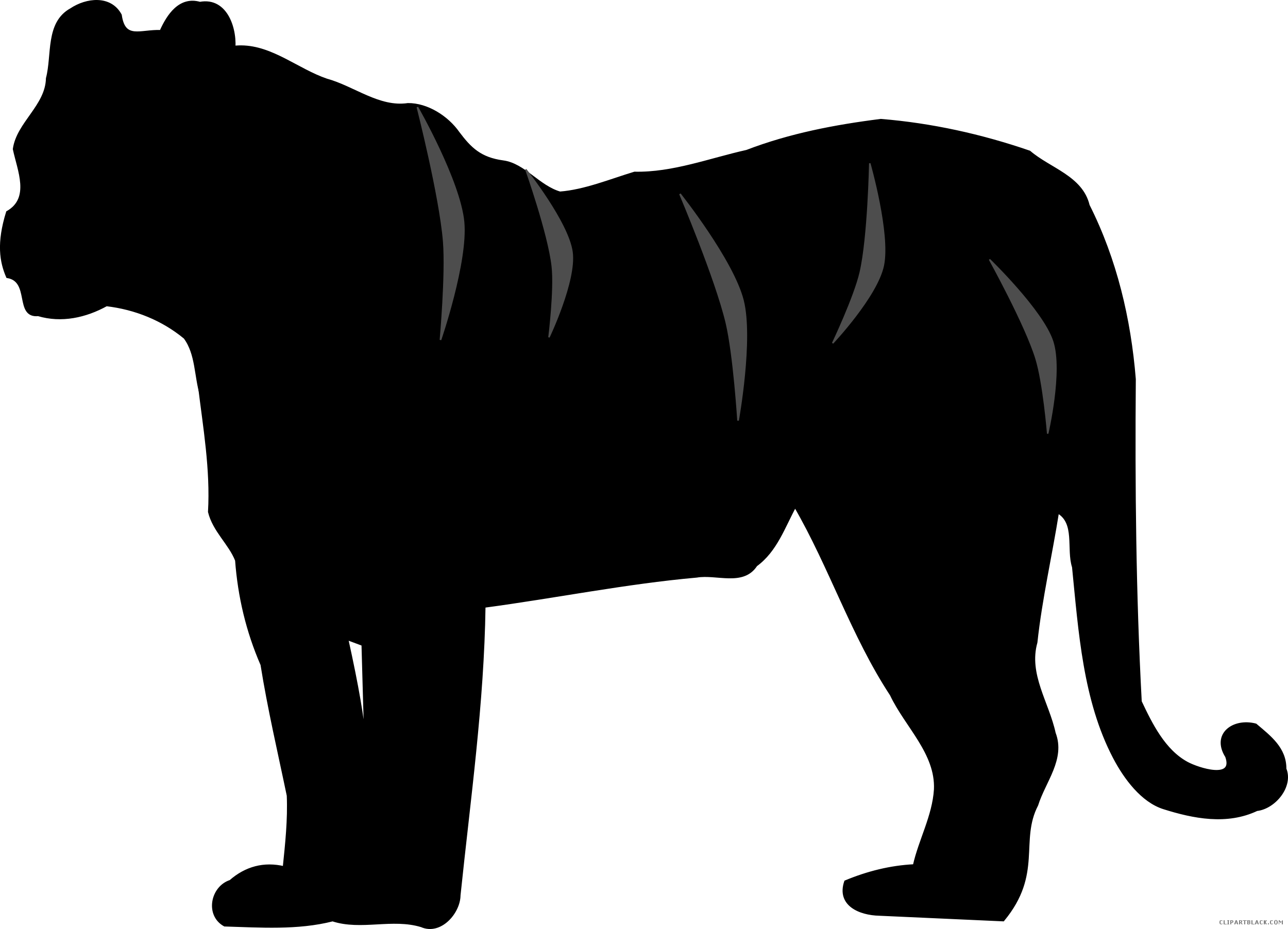 Turkey silhouette clipart cute graphic free stock Tiger Silhouette Clipart - ClipartBlack.com graphic free stock