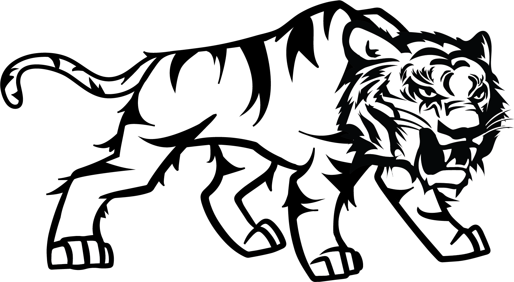 Tiger cat black and white clipart clip art free stock Tiger Cat Black and white Logo Lion - tiger 1662*913 transprent Png ... clip art free stock