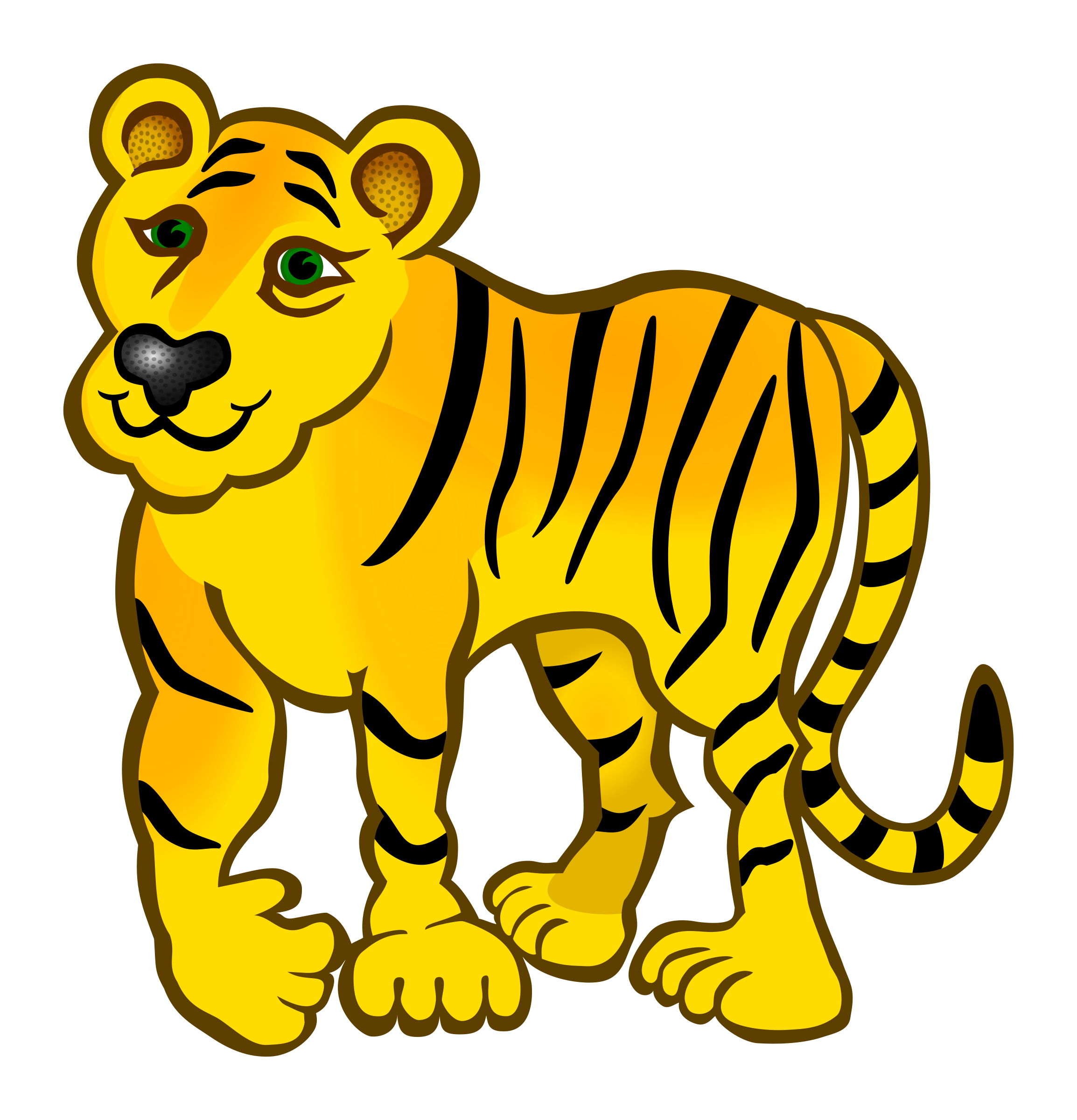 Tiger cat clipart banner transparent library Clipart - tiger - coloured banner transparent library