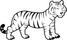 Tiger clipart black and white outline picture royalty free stock Search Results for bengal tiger - Clip Art - Pictures ... picture royalty free stock