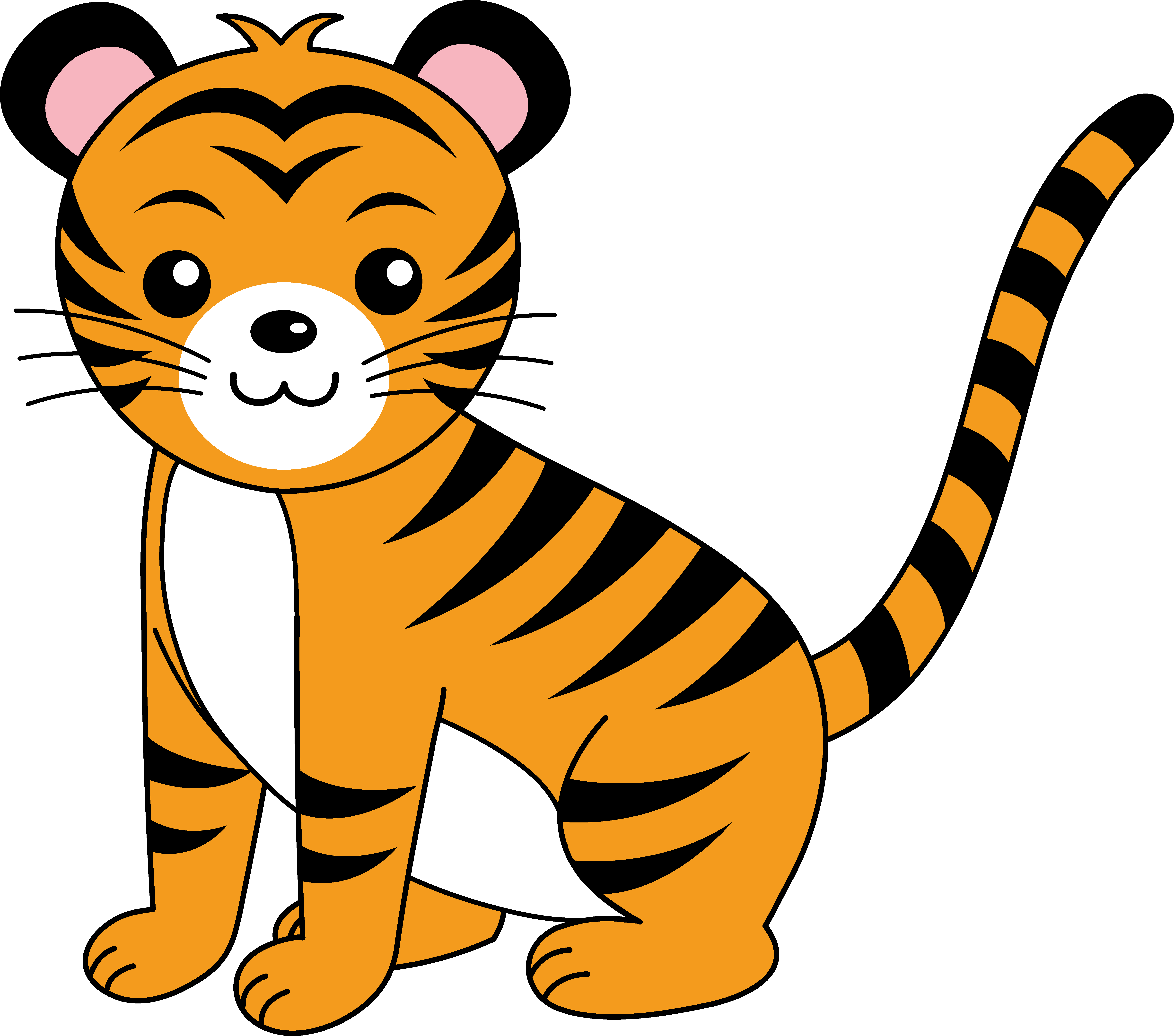 Tiger in jungle clipart black and white download adorable clipart free | Free Clip Art | kids | Tiger cub ... download