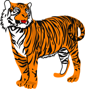 Tiger clipart for kids banner royalty free Tiger Clip Art For Kids | Clipart Panda - Free Clipart Images banner royalty free
