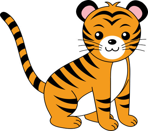 Tiger in a jeep clipart banner black and white stock Free Cute Tiger Clipart, Download Free Clip Art, Free Clip ... banner black and white stock