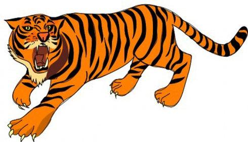Tiger clipart kostenlos vector library download Clipart tiger kostenlos - ClipartFest vector library download