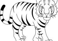 Tiger clipart line drawing clipart royalty free Black And White Tiger Clipart | www.thelockinmovie.com clipart royalty free