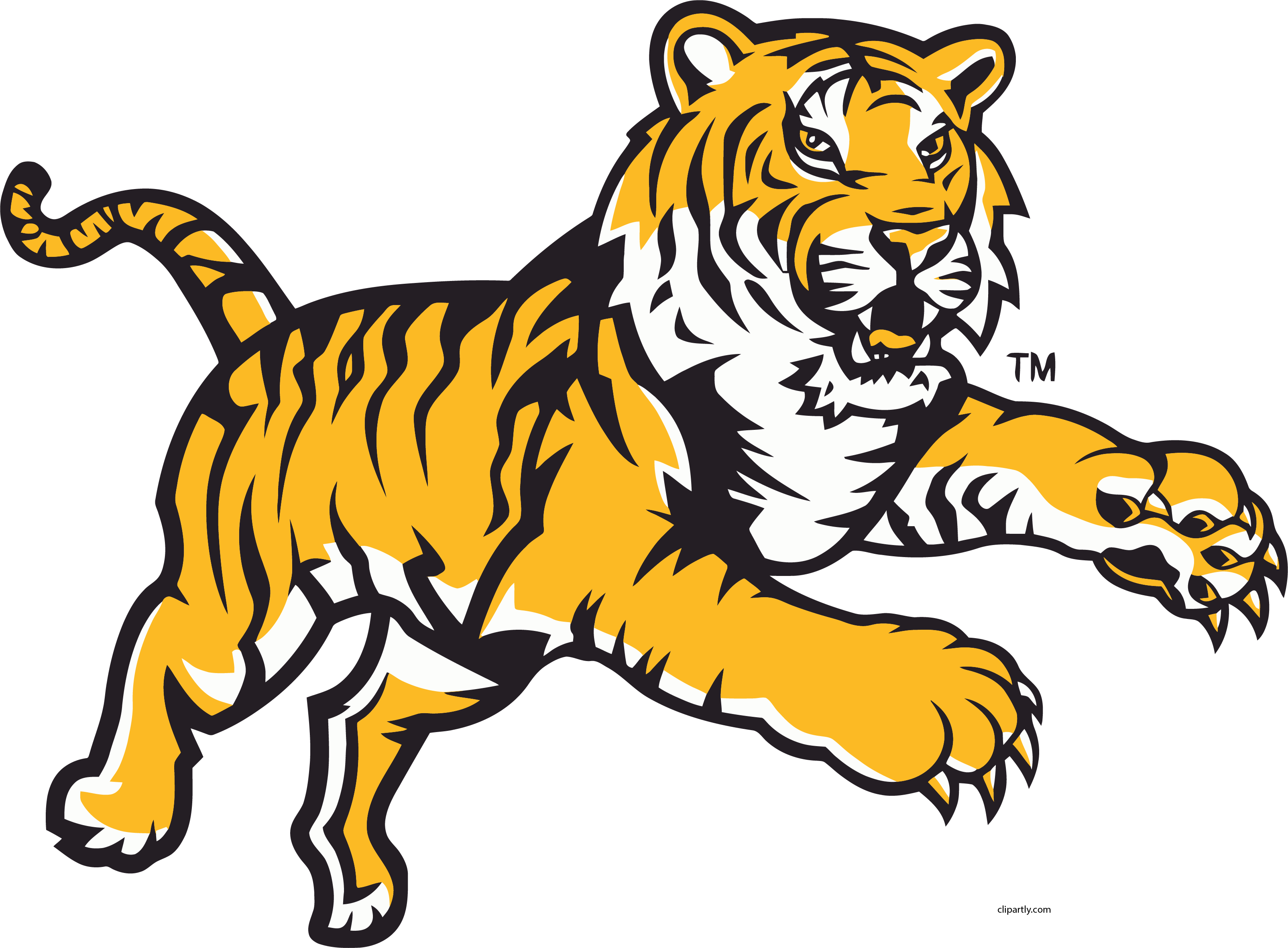 Tiger clipart mean jpg freeuse stock HD Angry Tigger Attack Jump Clipart Png - Lsu Tigers ... jpg freeuse stock