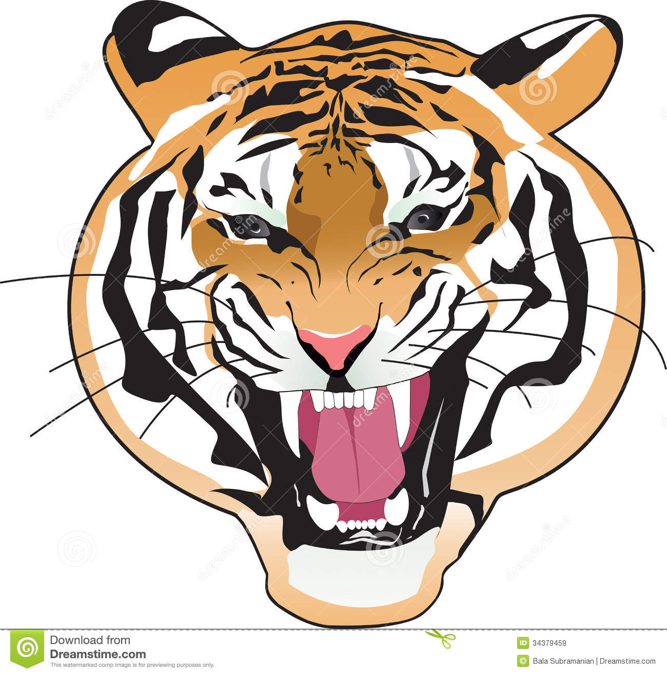 Tiger clipart mean transparent Tiger Face Clip Art | Clipart Panda - Free Clipart Images transparent