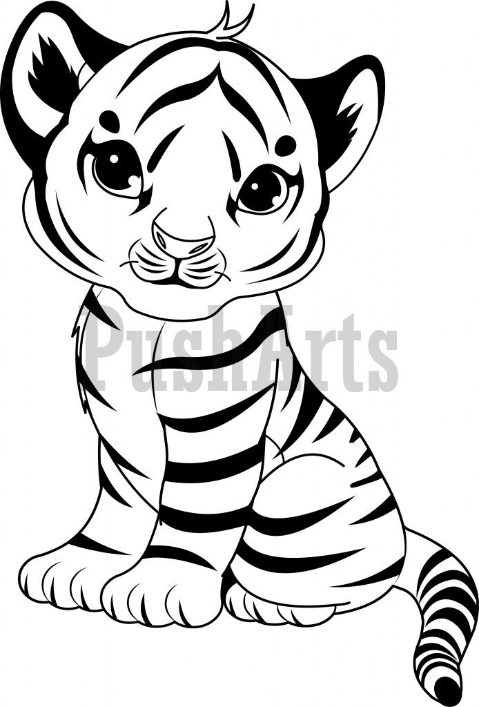 Tiger cub face clipart outline graphic royalty free Pin by Ginger Sheridan on Embroidery | Unicorn coloring ... graphic royalty free