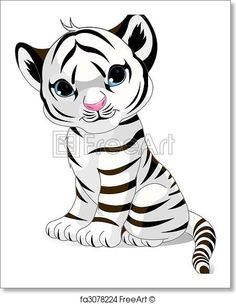 Tiger cub reahing up clipart image black and white library 29 Best white tiger cubs images in 2014 | White tiger cubs ... image black and white library