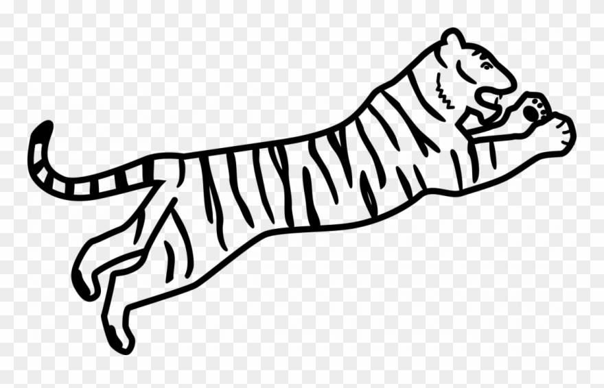 Tiger drawing clipart banner transparent download Large Size Of How To Draw A Tiger Paw For Beginners - Bengal ... banner transparent download