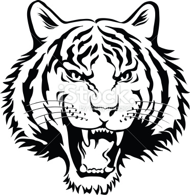 Tiger face clipart black and white image free stock Tiger Black And White Clipart | Free download best Tiger ... image free stock