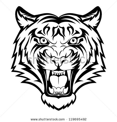 Tiger face clipart black and white clip free Tiger Face Clip Art Black And White | Clipart Panda - Free ... clip free