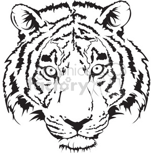 Tiger face clipart black and white download tiger head black and white illustration clipart. Royalty-free clipart #  398017 download