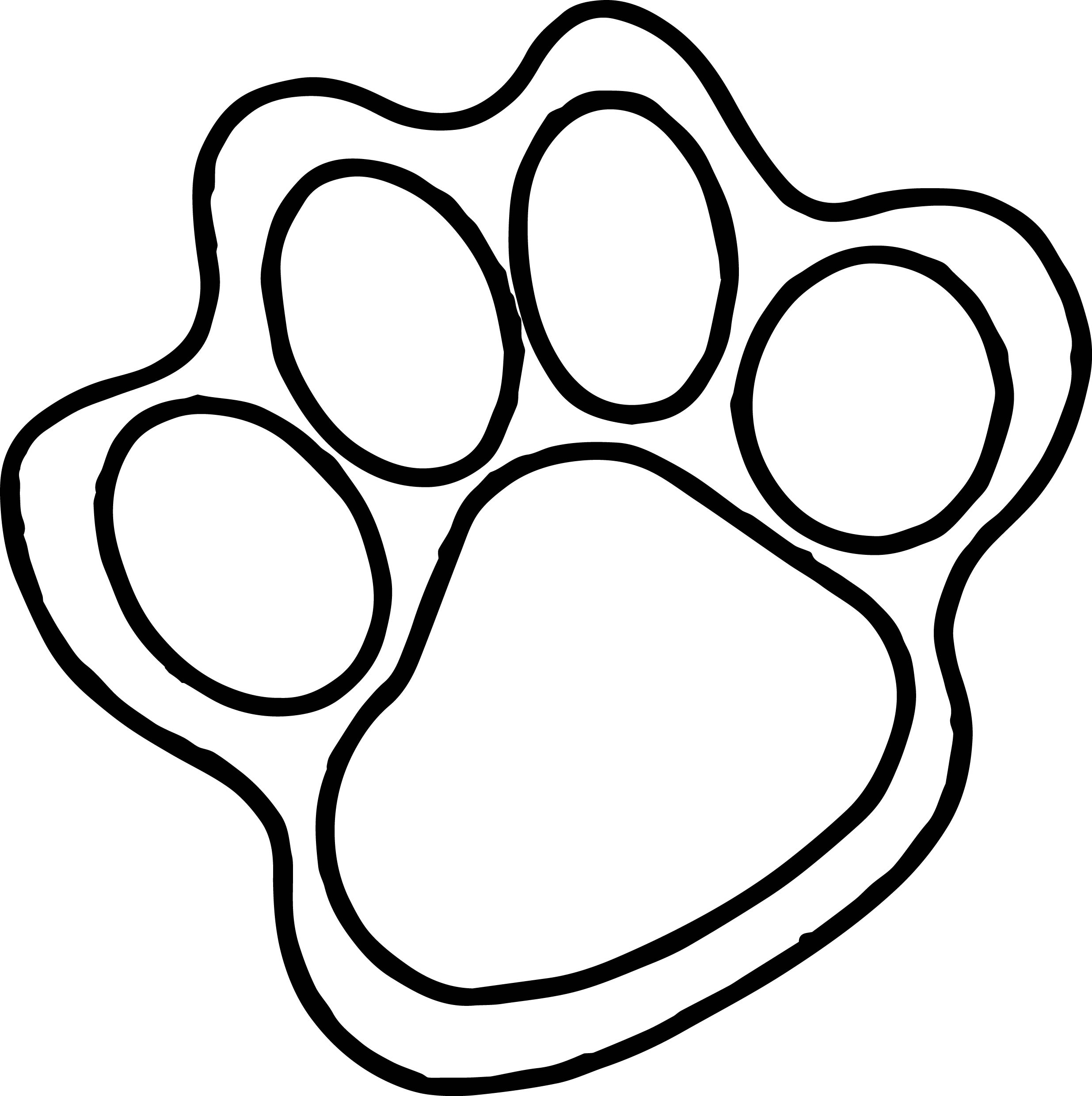Tiger feet clipart free download Foot Coloring Page Clipart | Free download best Foot ... free download