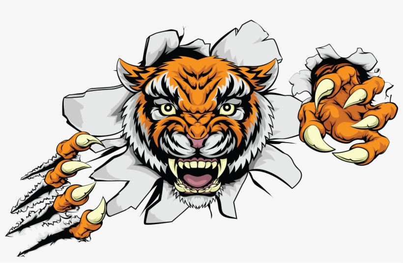 Tiger feet clipart picture transparent library Ferocious Clipart Indian Tiger - Non Copyright Images Of ... picture transparent library