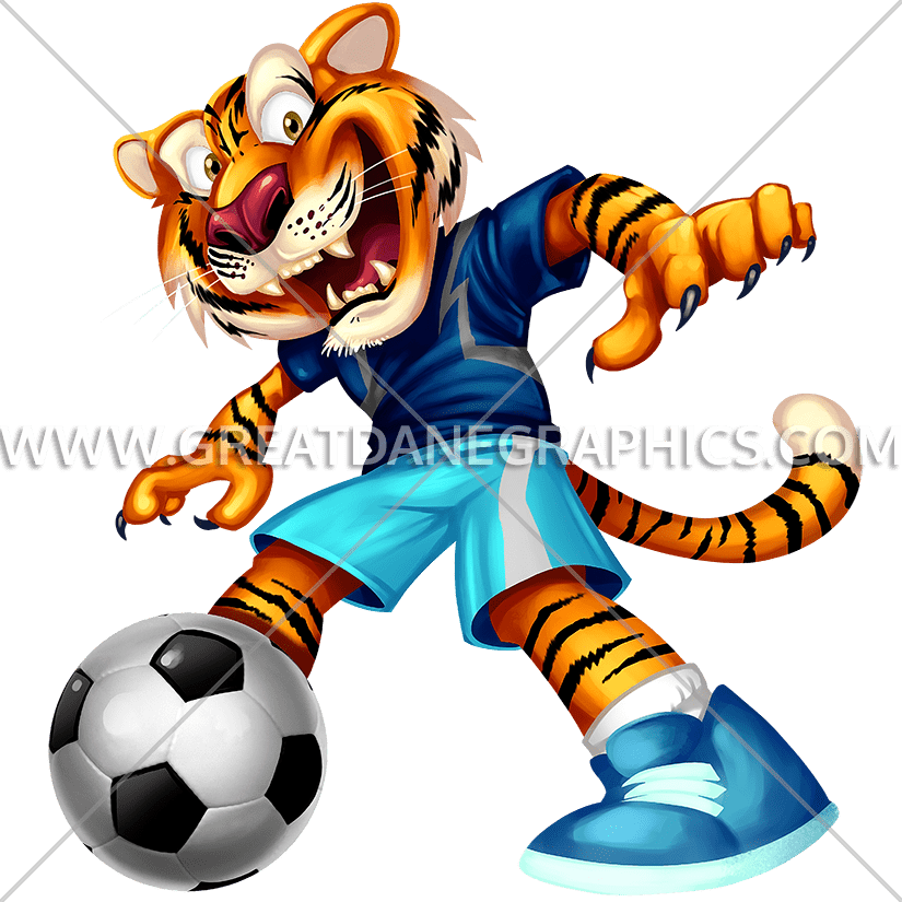 Tiger football clipart clip art free library Tiger Kick | Production Ready Artwork for T-Shirt Printing clip art free library