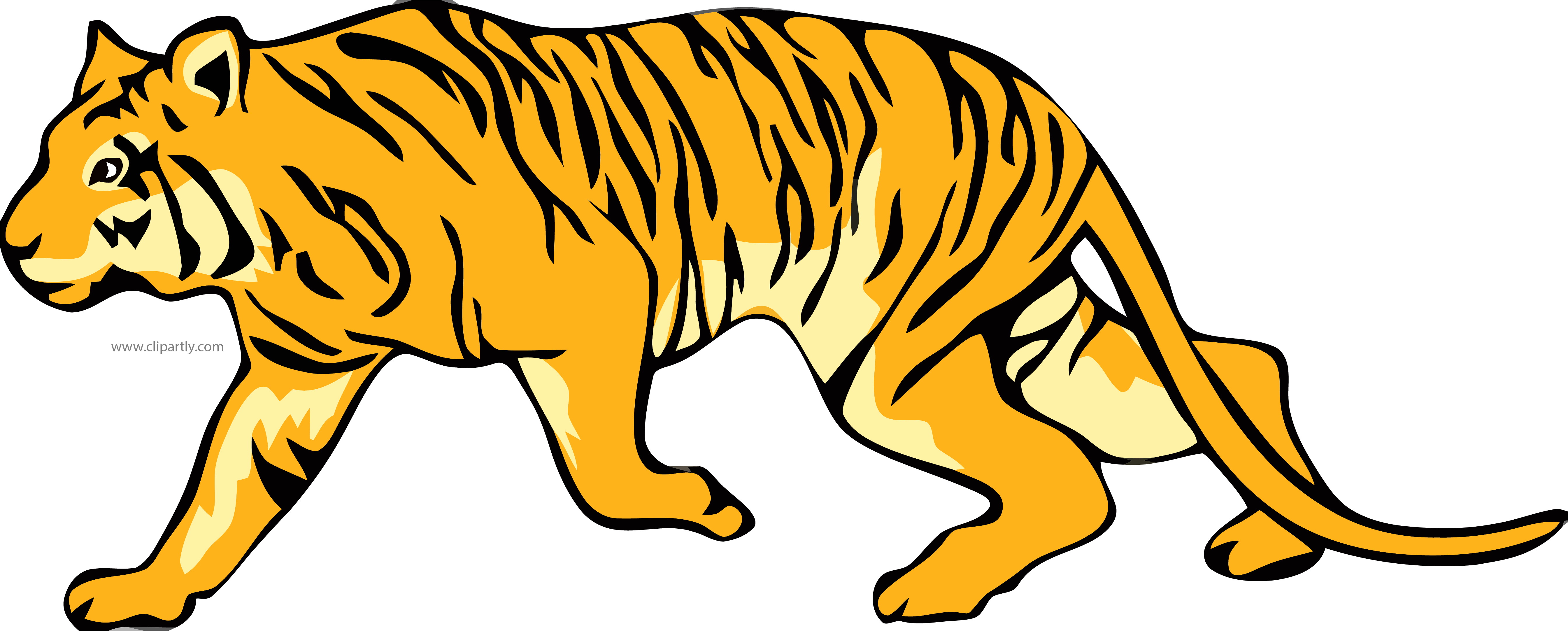 Tiger in a jeep clipart vector free download Walking Tiger Clipart Png – Clipartly.com vector free download