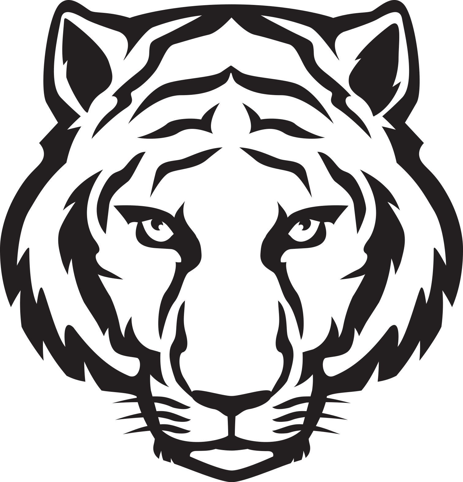 Tiger in clipart png transparent stock Tiger clipart - Cliparting.com png transparent stock