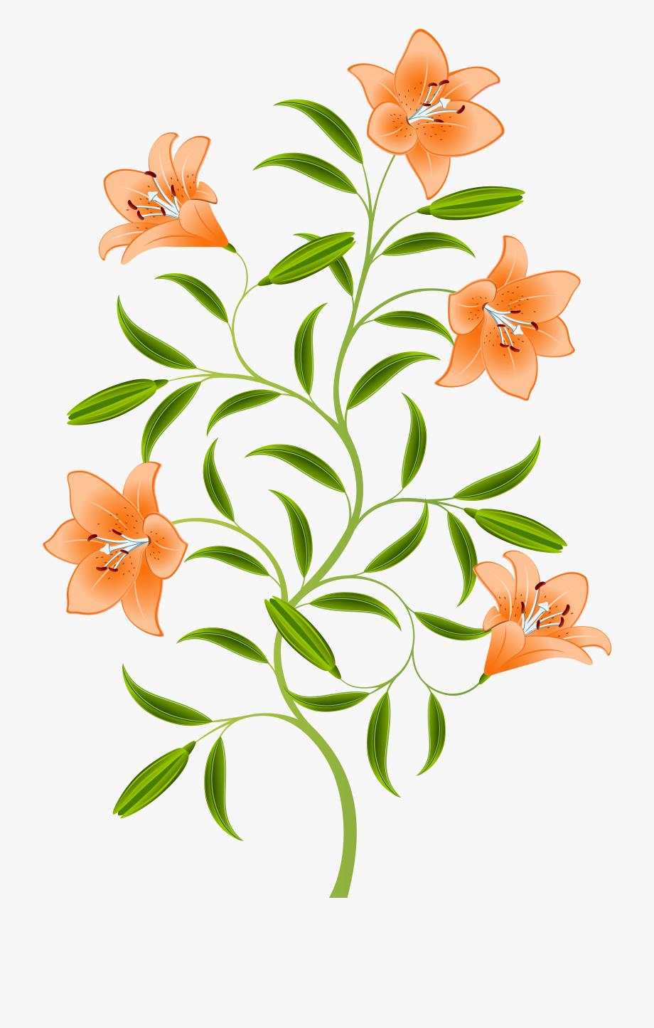 Tiger lily flower clipart clip royalty free library Orange For Free Download On Mbtskoudsalg - Tiger Lily Flower ... clip royalty free library