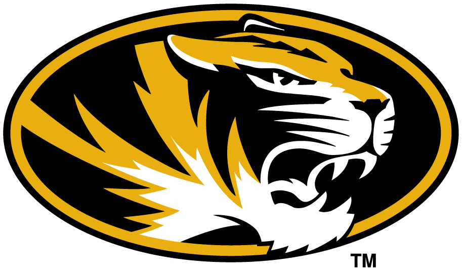 Tiger logo clipart png black and white stock Missouri Tigers Primary Logo Ncaa Division I M clipart free ... png black and white stock