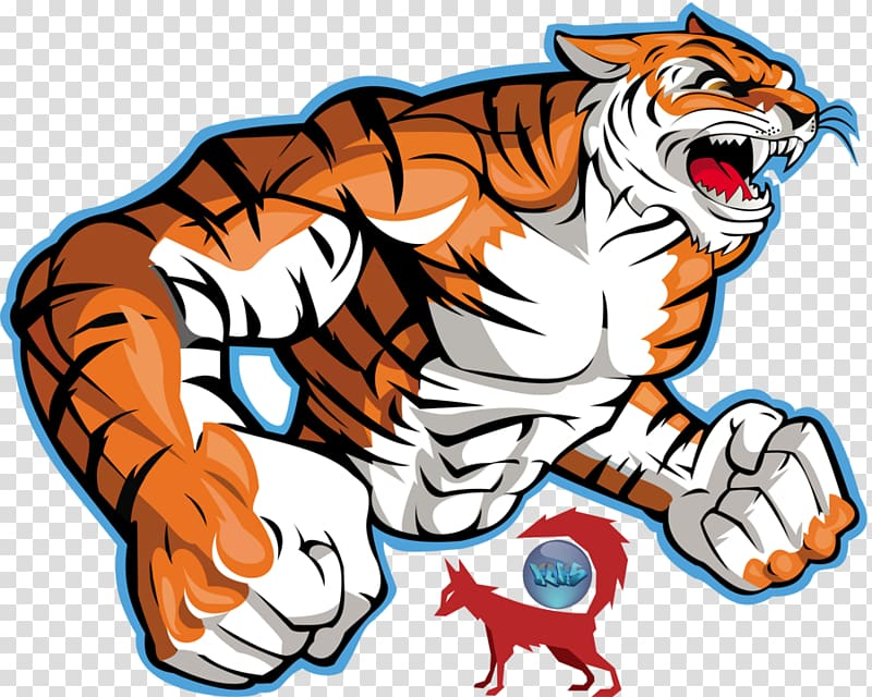 Tiger logo clipart picture free stock Tiger illustration, Bengal tiger Logo , Tiger Art ... picture free stock