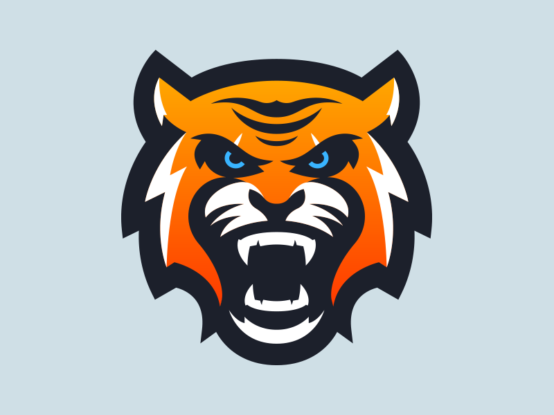 Tiger mascot clipart picture free download Tiger Mascot Logo Design | Sports logo\'s | Logos, Sports ... picture free download