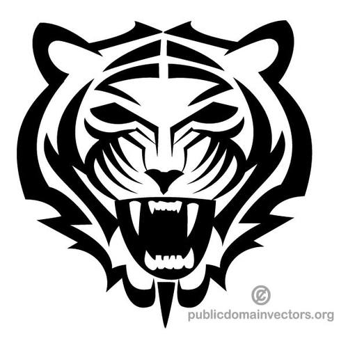 Tiger mascot clipart picture free library Tiger mascot clip art | Public domain vectors picture free library