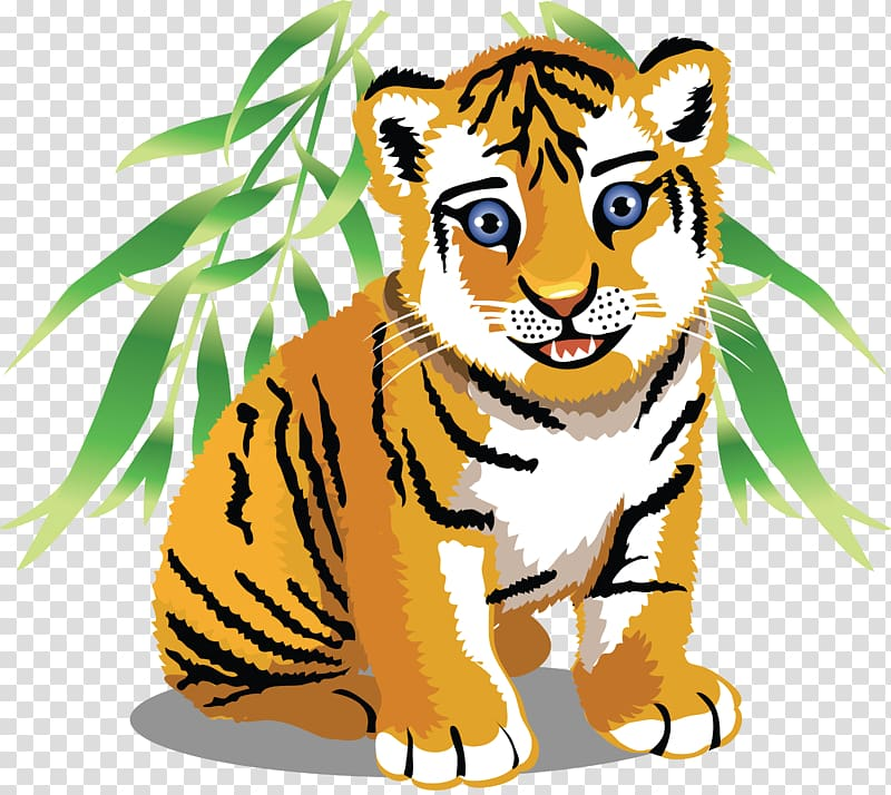 Tiger on a rock clipart clip art transparent stock Tiger Baby Jungle Animals Cartoon , tiger transparent ... clip art transparent stock