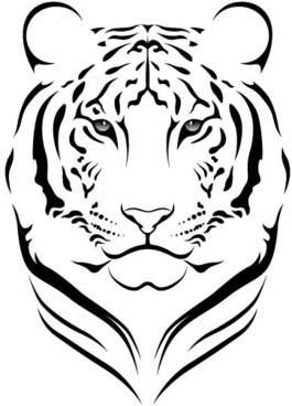 Tiger outline clipart graphic free library Tiger face clip art outline free vector download (221,072 ... graphic free library