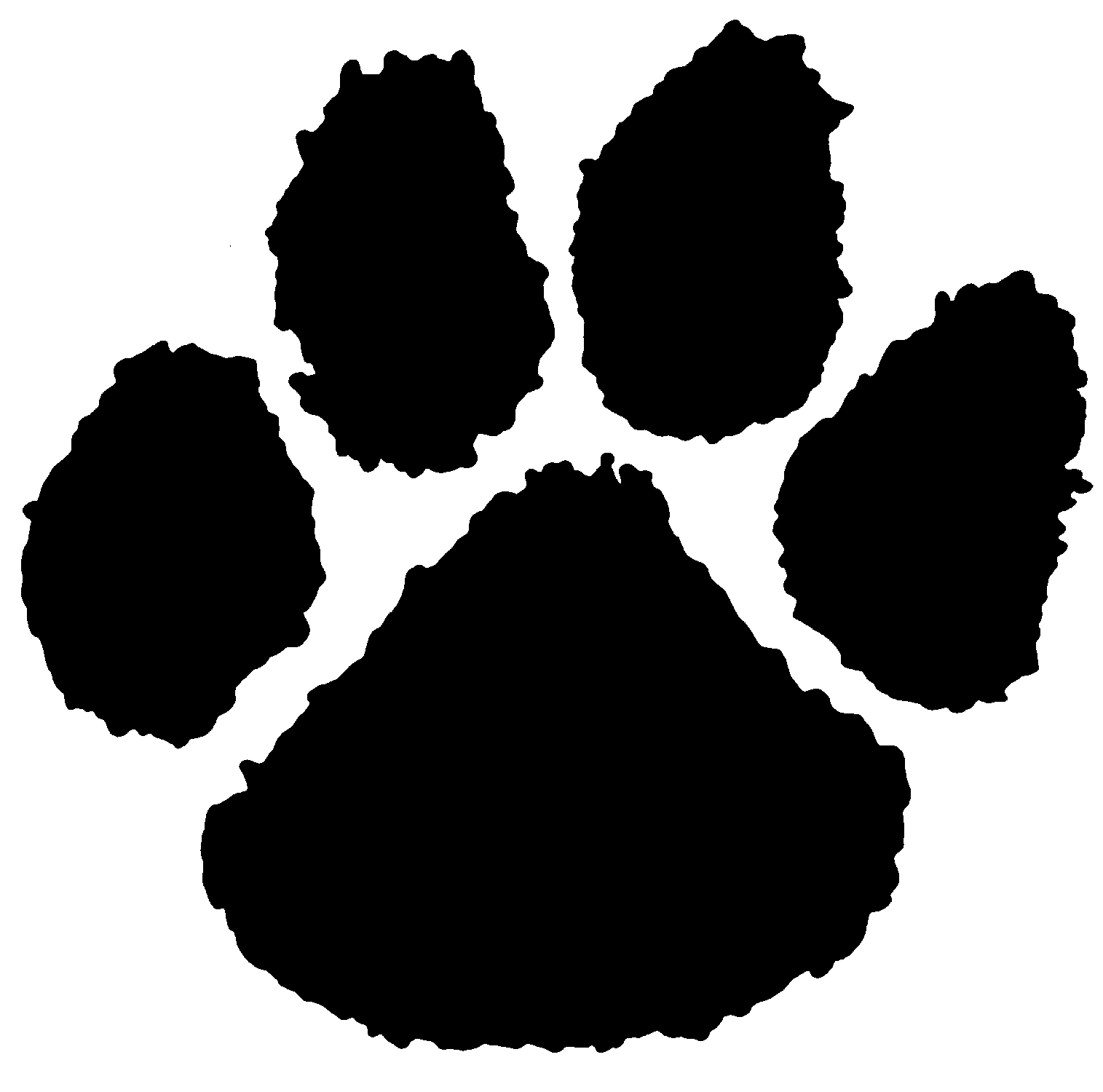 Tiger paw clipart in white clip royalty free download Free Tiger Paw Print, Download Free Clip Art, Free Clip Art ... clip royalty free download