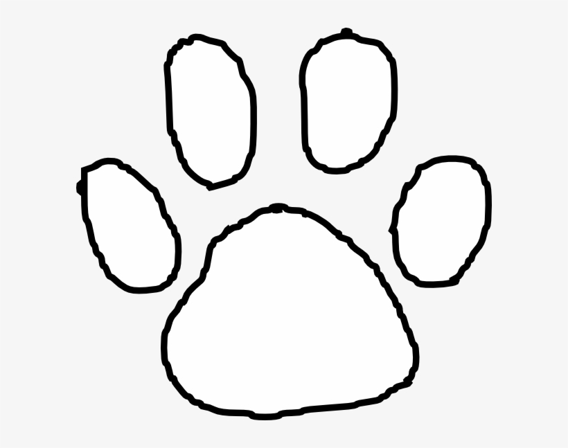 Tiger paw clipart in white image transparent library Tiger Paw Print Outline Clip Art At Clipart Library - White ... image transparent library