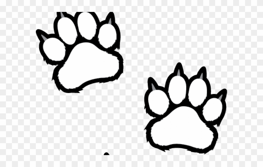 Tiger paw clipart in white vector black and white stock Scratches Clipart Tiger Paw - Clemson Clipart Black And ... vector black and white stock