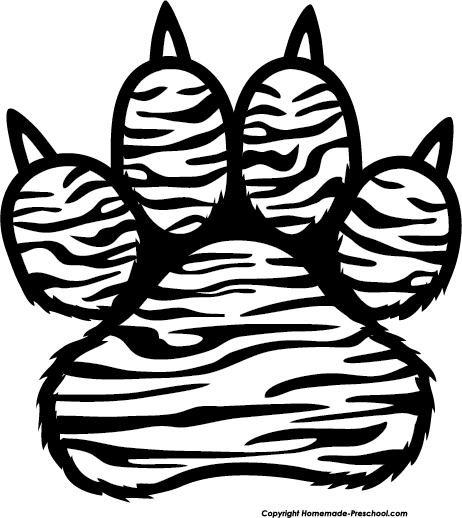 Tiger paw clipart in white image freeuse stock Free Paw Prints Clipart | Class Reunion Ideas | Pet tiger ... image freeuse stock