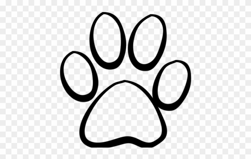 Tiger paw clipart in white vector free download Tiger Paw Clipart - Paw Print Outline Tattoo - Png Download ... vector free download