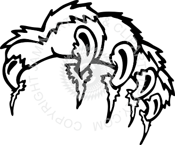 Tiger paw with claws clipart svg freeuse Tiger paw with claws svg freeuse