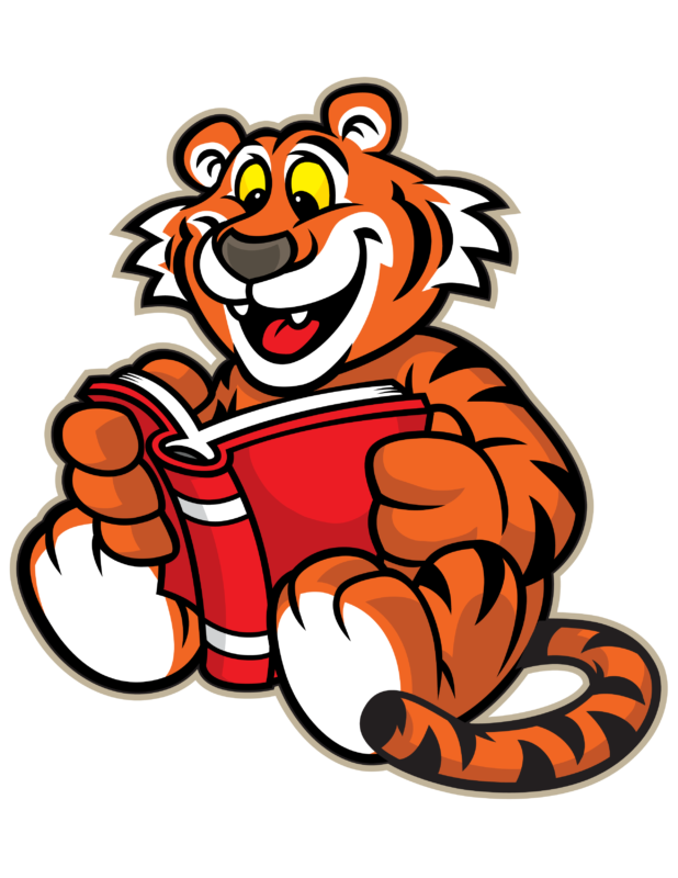 Tiger reading a book clipart free library Free Tiger Clipart Images & Photos【2018】 free library
