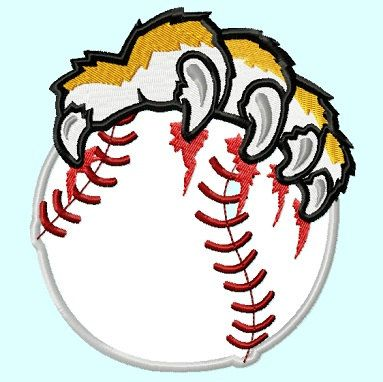 Tiger softball clipart clipart transparent stock Tiger Paws Baseball Applique Embroidery Design By ... clipart transparent stock
